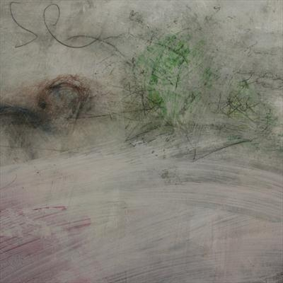Marks and the void close up 2 by Kelvin Burr, Painting, Lime,ash,pigment on board
